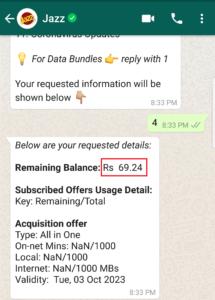 How to Check Balance on Jazz via WhatsApp