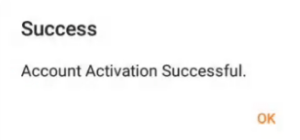 account activation successful