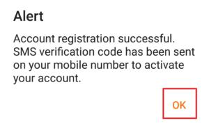 account registerd