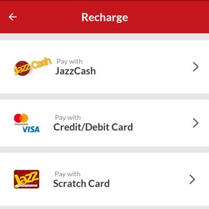 pay and recharge jazz sim