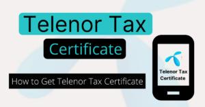 Telenor Tax Certificate