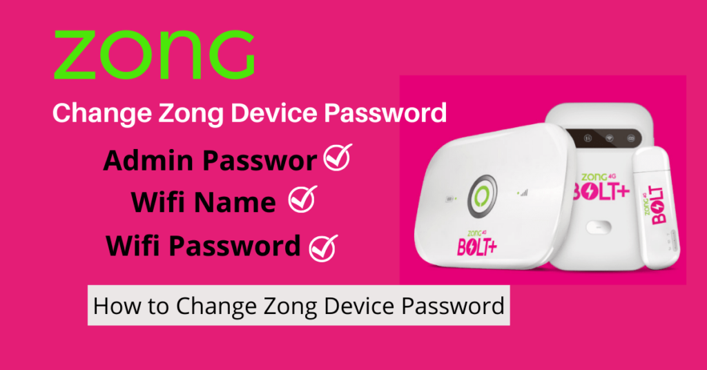 How to Change Zong Device Password