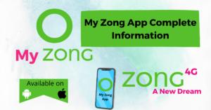 My Zong App login